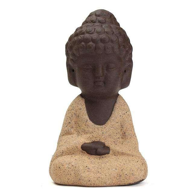 Statuette Bouddha en Céramique Faite Main - L'univers-karma