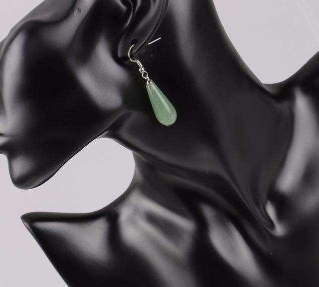 Boucles D'oreilles de Sérénité en Pierres Naturelles - L'univers-karma