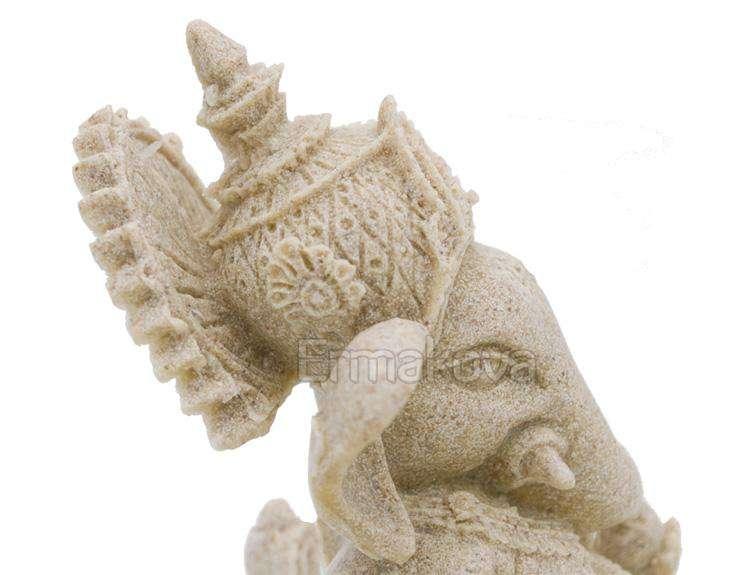 Statue Ganesh En grès Faite Main - L'univers-karma