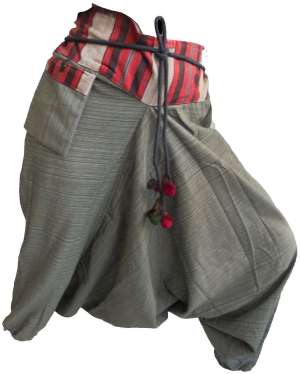 Pantalons Sarouel Gris - L'univers-karma