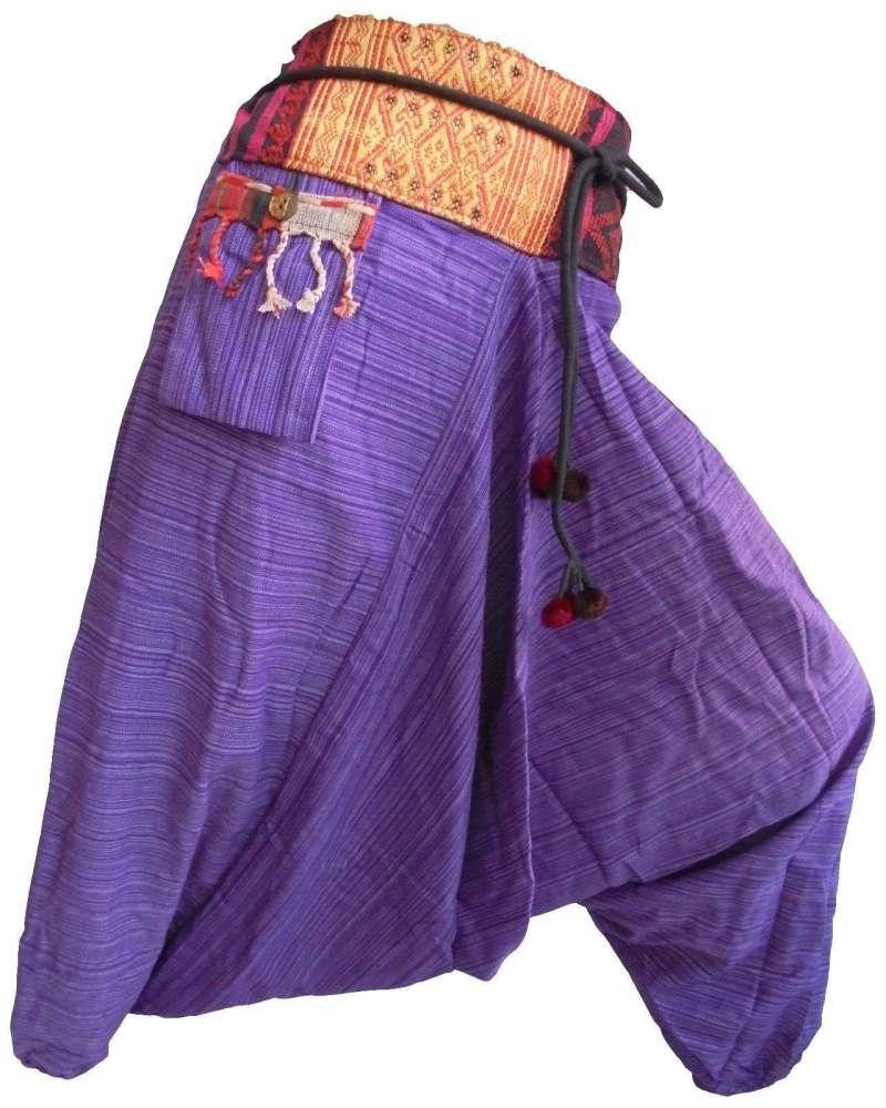 Pantalon Sarouel Lilas - L'univers-karma