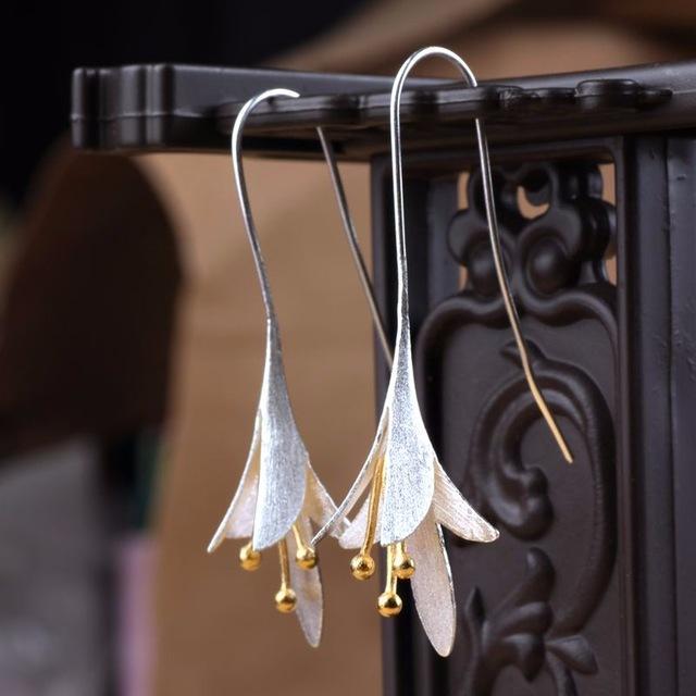 Boucles D'oreilles Fleur Divine en argent - L'univers-karma