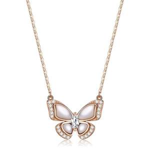 Collier papillon en céramique