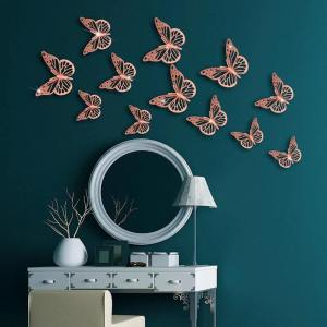 stickers papillon rose sur un murs