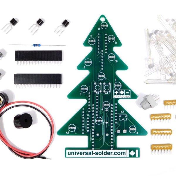 CANADUINO Pine Tree 2 Arduino Nano DIY LED decoration tree - smart electronics by universal solder
