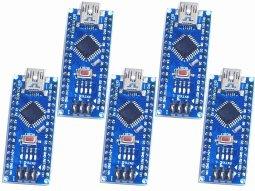 5 x arduino nano v3 - smarter electronics made by universale solder