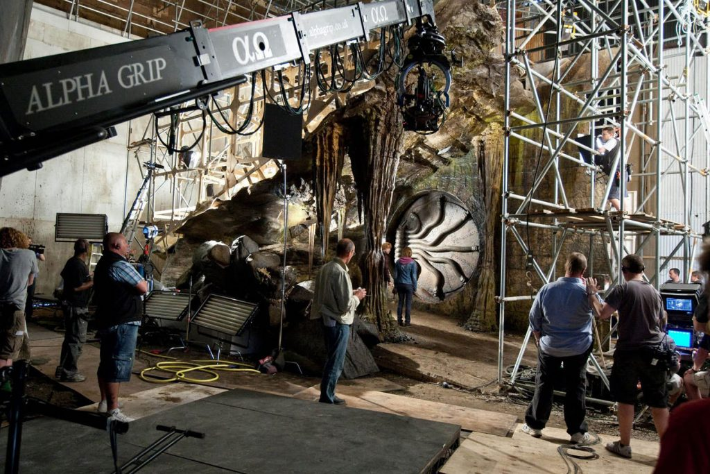 Ron & Hermione enter to the chamber of secret again in Deathly Hallows Movie - Behind the scene Harry Potter