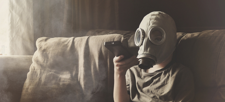 Hijos asmáticos, padres fumadores