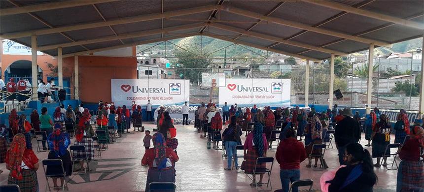 20 toneladas de alimento fueron repartidas en Oaxaca