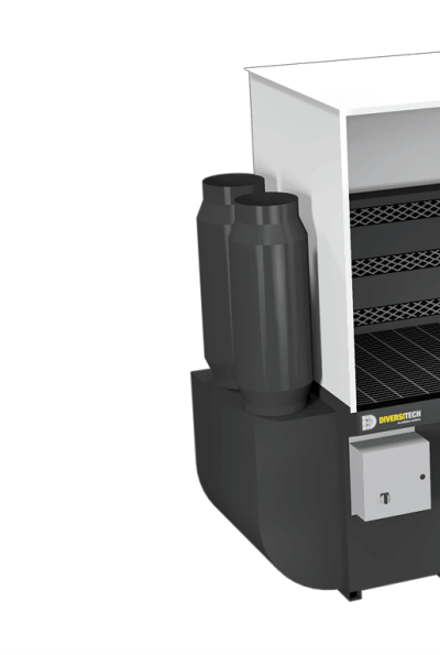 Side Stack Silencer for down draft dust collector table