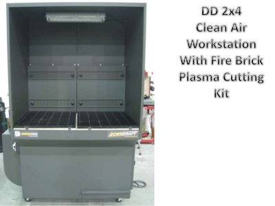 DD 4x4 downdraft table with Clean Air Work station and light
