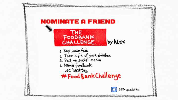 #FoodBankChallengle takes a boost.