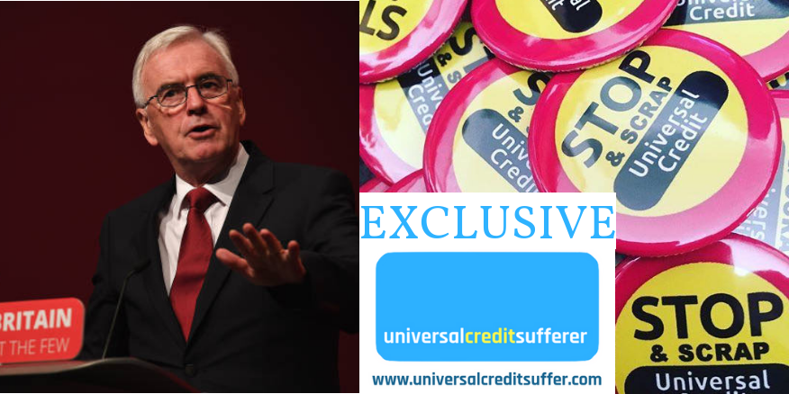 Labour MP tells me scrapping Universal Credit WILL be in next election manifesto & McDonnell indicates support