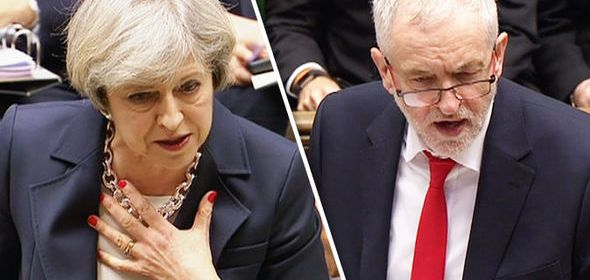 Theresa May and Jeremy Corbyn House of Commons