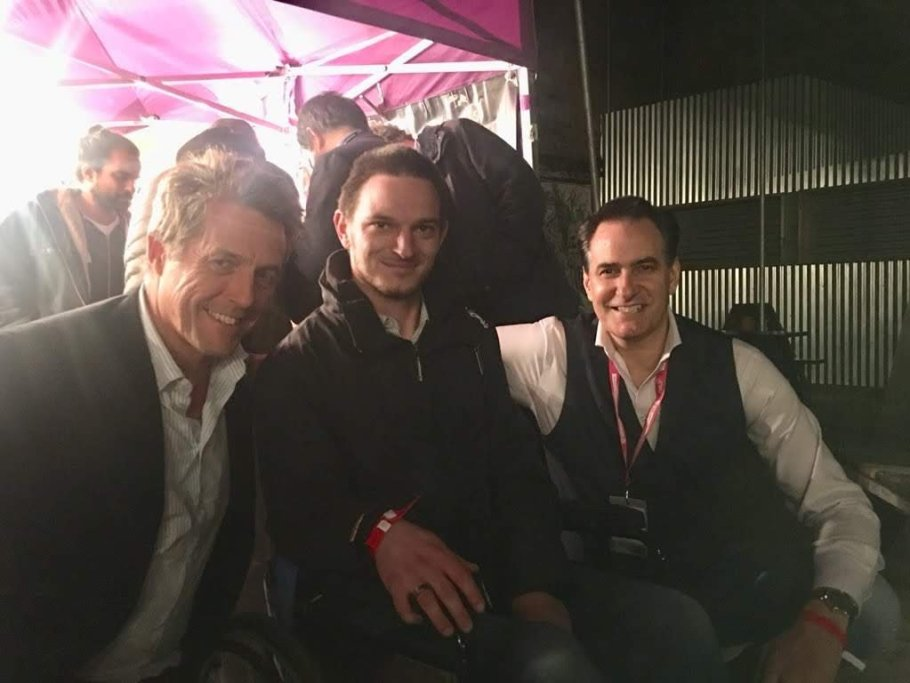 Left to Right- Hugh Grant, Me & Peter Stefanovic