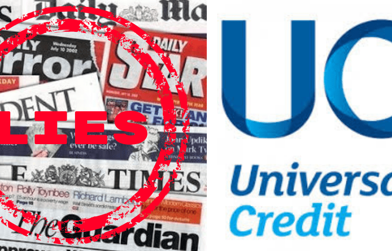 Mainstream Media peddles Tory lie about Universal Credit