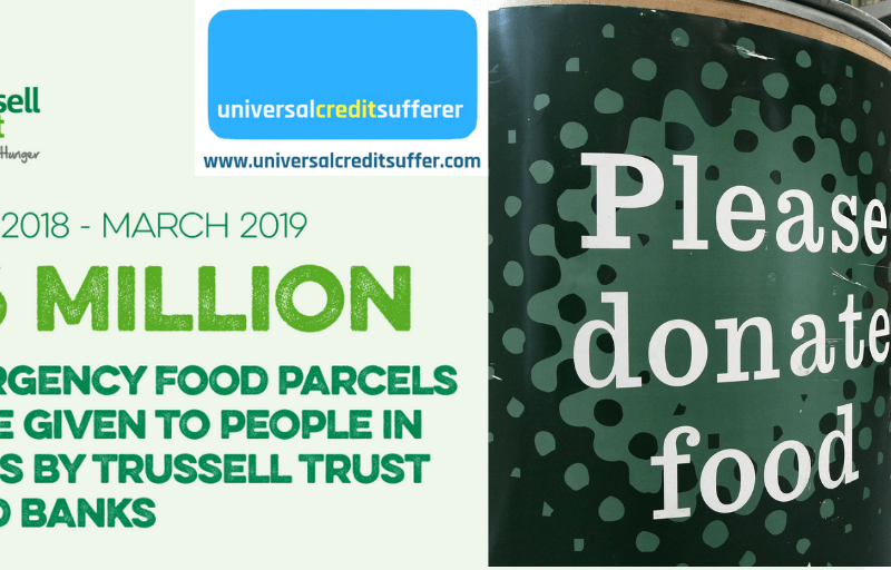 Trussell Trust; 'Foodbank Use UP 19% in 2018/19'