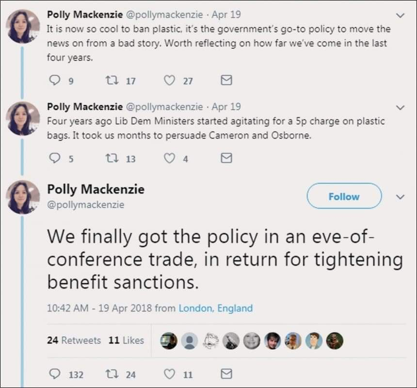 Polly Mackenzie Lib Dem Benefit Sanctions Tweet
