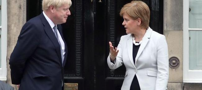 Nicola Sturgeon with Boris Johnson