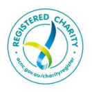 logo for a registered charity.