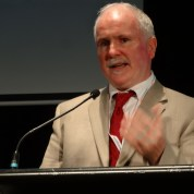 A picture of Ger Craddock speaking at the Australian Universal Design Conference 2014