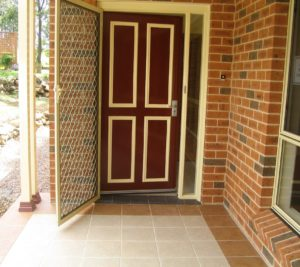 A front door with level, no step entry.