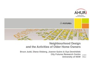 Neighbourhood Design, Judd et al