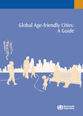Front cover of the WHO guide for age friendly cities.