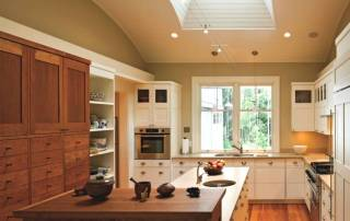 kitchen with skylight above