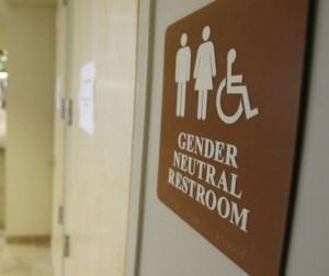 Sign for a gender neutral toilet