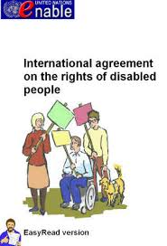 Front cover of Enable Easy Read version of the UN Convention