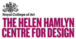Logo for the Helen Hamlyn Centre: purple upper case