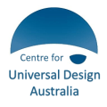 Centre for Universal Design Australia logo in blue.