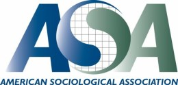 logo of American Sociological Society - blue on white background