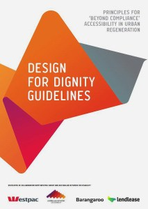 Front cover of the Design for Dignity Guidelines.