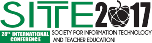Logo of the conference SITE 2017, Society for information and teacher education