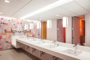 Gender inclusive bathroom by Elizabeth Felicella