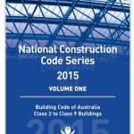 Blue front cover of National Construction Code Class 2-9 buildings