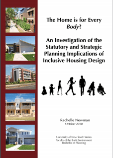 Front cover of the thesis showing four pictures of homes and apartments along with the title of the thesis