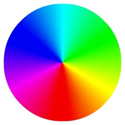 A wheel of all the colours of the rainbow