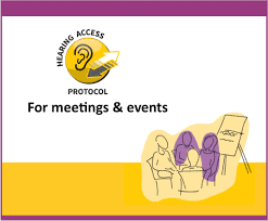 Front cover of the protocol for meetings and events.