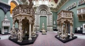 One of the galleries at the Victoria and Albert Museum in London.