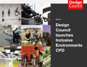 header page for the Design Council CPD course showing a montage of pictures.