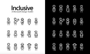 A black and white graphic of stick people in various states of being.