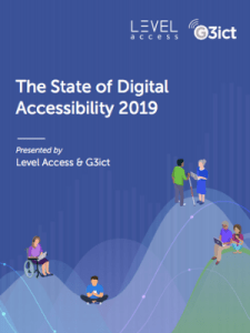 Front cover of the Digital Accessibility Report.