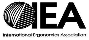 Logo of the International Ergonomics Association.