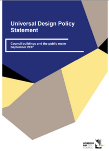 Front cover of the policy statement.
