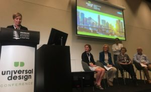 Panel session at the Brisbane UD Conference.