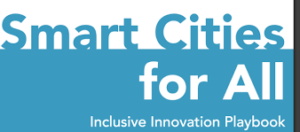 Front cover of the Smart Cities for All Inlcusive Innovation Playbook.