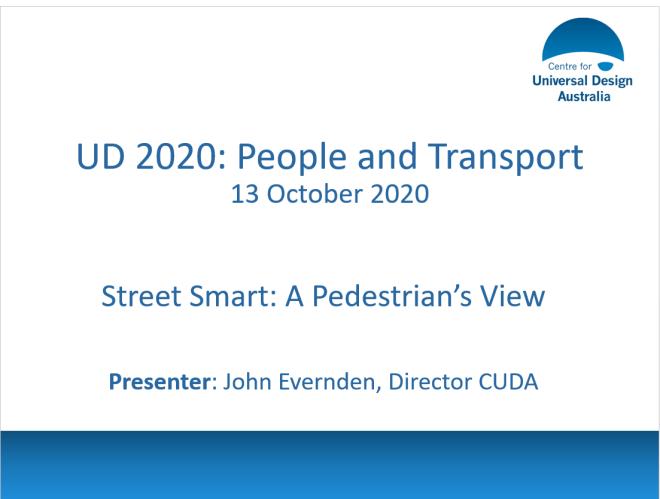 Header slide of Street Smart presention.